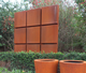 Corten Steel Walls by potstore.co.uk